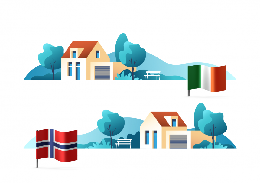 Home Ownership patterns in Ireland & Norway